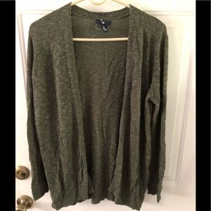Gap Army Green Open Front Cardigan. Large